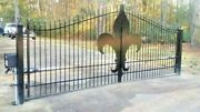 Wrought Iron Style Driveway Gate 15' Wd Inc Post Post Pkg Residential Security