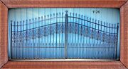Driveway Entry Gate Steel 13and039 Dual Swing Home Garden Yard Residential Security