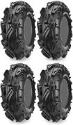Four 4 Maxxis Mudzilla Atv Tires Set 2 Front 28x10-12 And 2 Rear 28x10-12