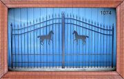 12and039 Wide Custom Driveway Gate Inc The Steel Post Package. Usa Home Security