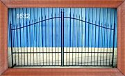 Wrought Iron Style Steel Driveway Gate 11and039 Ft Wd Inc Post Pkg Yard Home Security