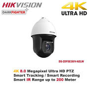 New Hikvision Usa 4k/8mp Full Hd 1080p 36x Smart Auto Tracking Ir Speed Dome/poe