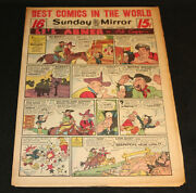 1951 Sunday Mirror Weekly Comic Section December 9th Vg+ Superman Schmoo