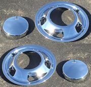 New Front Chrome Simulators And Center Caps For 03-18 Dodge Ram 3500 Dually 1-ton