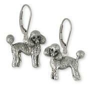 Poodle Earrings Handmade Sterling Silver Dog Jewelry Pd55-e