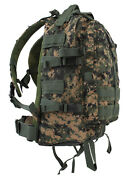 Large Military Style Transport Pack Backpack Woodland Digital Camo Rothco 7687