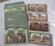 Early Vintage Stereo Cards Collection Lot Of 123 Cards  T