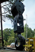 Crane Block Salvage 80 Ton Cap +/-. 6 Sheeves,1 1/4 Cable Military Surpl A6760