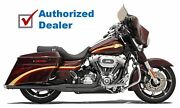 Bassani Road Rage Black 2 Into 1 Exhaust Pipe Harley Touring Bagger 1995-2016