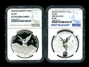 2016 Mexico Silver Onza Libertad Ngc Pf70 Ucam And Reverse Proof Pl70 2-coin First