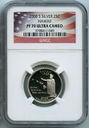 2008 S Hawaii Silver State Quarter Ngc Pf70 Graded Ucam Proof Coin 25 Cent W4
