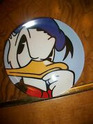 Disney In Clay Le 1000 Donald Signed Brenda White Miniature Charger Plate Art
