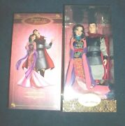 Disney Mulan And Li Shang Fairytale Collection Dolls Limited Edition