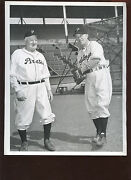 1948 Baseball Wire 8 X 10 Photo Honus Wagner And Bing Crosby Pittsburgh Pirates