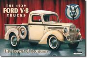 Vintage Replica Tin Metal Sign Billboards Ford V8 Parts Picture 1939 Trucks 707