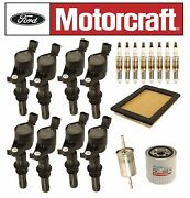 For Ford Expedition Lincoln Navigator V8 Motorcraft Ignition Coils Tune Up Kit