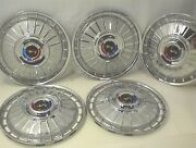 1962 Ford Hubcaps 14 Galaxie Wheel Covers Set Of 5