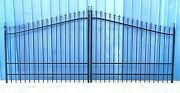 Driveway Gate 14and039 Wd Steel / Iron Residential Home Security Veterans Discount