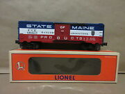Lionel 6-19285 State Of Maine Boxcar O-scale Train 6464-275 Bangor And Aroostook