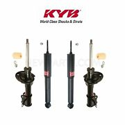 For Saab 9-3 2003-2011 Rear Shock Absorbers And Front Struts Kit Kyb Excel-g