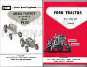 1958-1962 Ford Tractor 601 801 Diesel Owners Manual Set 821 841 851 861 621-651