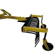 Titan Attachments 4 Ft Landscape Rake With Bolt-on Wheels For Compact Tractors