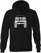 Hoodie Mens 1980and039s 90and039s K5 Blazer Lifted Mud Tires Truck Garage Shirt