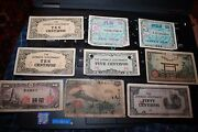 Lot Of 28 Japanese Occupied Philippine And Japan Currency Used From Soldier