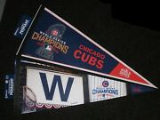 Lot Of 2 Different 2016 Chicago Cubs World Series Champions Wincraft Pennants