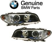 For Bmw E46 Pair Set Left And Right Headlights Akl Bi-xenon White Turn Signal Oes