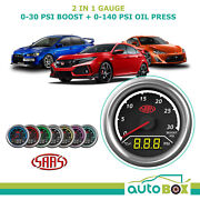 Saas 2in1 Digital Analogue Trax Boost 0-30psi And Oil Press 0-140psi 52mm Gauge