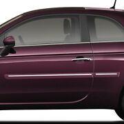 Painted Body Side Moldings With Chrome Trim Insert For Fiat 500 2 Door 2012-2019