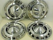 1956 Chevrolet Hubcaps 15 Wheel Covers Set Of 4