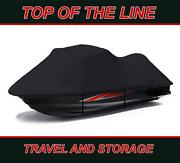 Black 600d Jet Ski Cover Seadoo Bombardier Gs Inter First Series 2001 1-2 Seat
