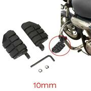 Black Motorcycle Foot Pegs Peg Rest Dually For Harley Softail Dyna Vrod Chopper