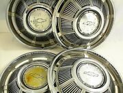 1969 Chevrolet Hubcaps 14 Set Of 4 69 Chevy Gm
