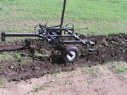 Tine Cultivator - 4 Ft - Tow Behind Atv Utv And Compact Tractor - 7 Disc Blades