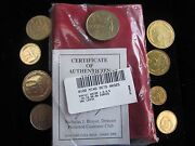 Hammer And Sickle Cold War Communists Russia-soviet Union 9 Coins In Velvet Pouch