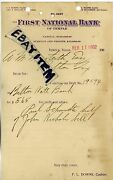 1902 Letterhead First National Bank Temple Texas Downs George Willcox Hutchison