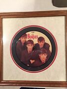 Early Beatles Cut Vinyl Lp Record Framed Art Collectible Gift. Rp 4949a