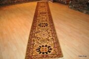 Top Quality Handmade 3and039 X 17and039 Hall Runner Oriental Tea Washed Beige Brown Rug