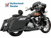 Black Bassani Road Rage Ii 2 Into 1 B1 Power Exhaust Pipe System Harley Touring