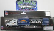 Nfl San Diego Chargers Peterbilt Tractor Trailer Die Cast 180 Football Replica