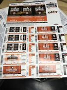 Lot Of 100 2016 Sf Giants Ticket Sheet Playoffs Chicago Cubs Stub World Series