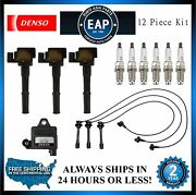 For 4runner Tacoma T100 Tundra T100 3.4l V6 Ignition Coil And Wire W/ Plugs Kit