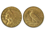 Lot Of 4 Circulated Random Common Date 5 Indian Head Gold U.s. Coin