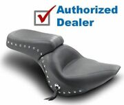 Mustang One-piece Studded Original Seat Chrome Studded Harley Softail 200 Tire