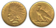 Lot Of 2 Circulated Random Common Date 10 Indian Head Gold U.s. Coin
