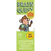 My First Brain Quest 350 Questions And Answers To Build Your Toddlers Word Skil