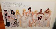 Rare Adam Hughes The Real Power Of The Dc Universe Hand Signed Dc Comic Poster
